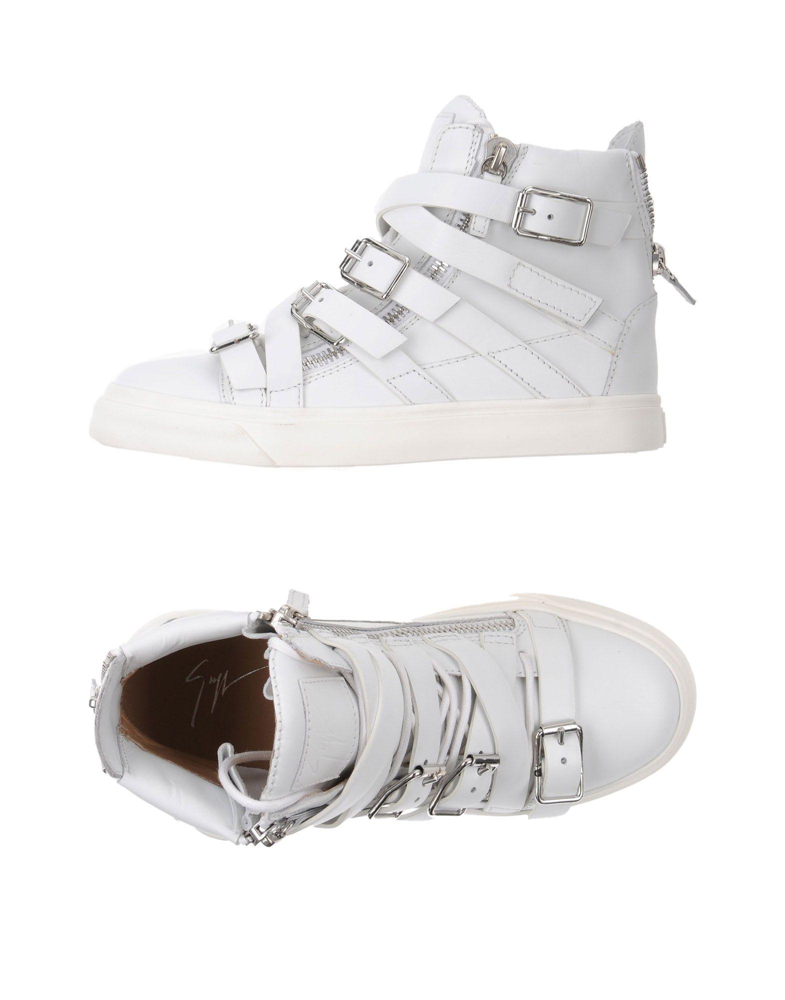 GIUSEPPE ZANOTTI DESIGN Damen High Sneakers & Tennisschuhe Farbe Weiß Größe 8