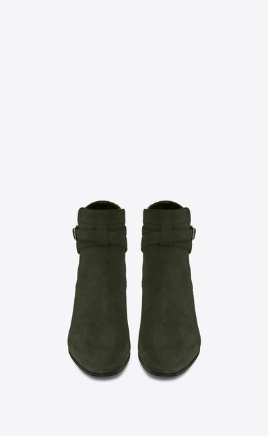 SAINT LAURENT Flat Booties D Signature BLAKE 40 Jodhpur Boot in Army Green Suede b_V4