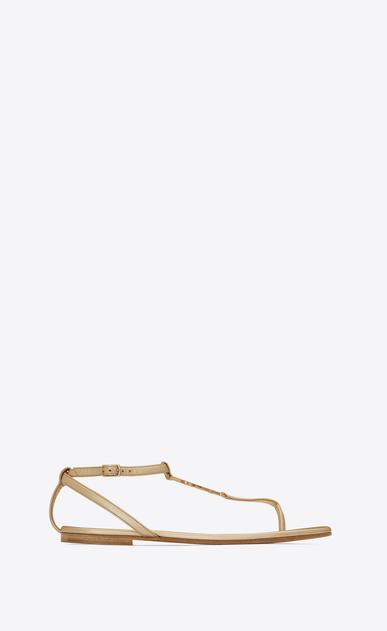 SAINT LAURENT Nu pieds D NU PIEDS 05 YSL Sandal in Pale Gold Metallic Leather v4