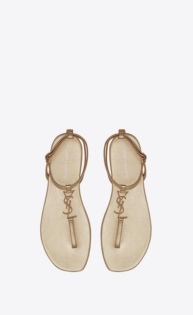 SAINT LAURENT Nu pieds D Sandale YSL NU PIED 05 en cuir or pâle métallisé b_V4