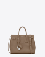 SAINT LAURENT Sac De Jour Supple D Small SAC DE JOUR SOUPLE Bag in Taupe Grained Leather f