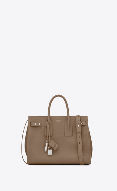 SAINT LAURENT Sac De Jour Supple D Small SAC DE JOUR SOUPLE Bag in Taupe Grained Leather a_V4