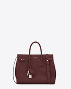 SAINT LAURENT Sac De Jour Supple D Small SAC DE JOUR SOUPLE Bag color rosso scuro in pelle martellata f