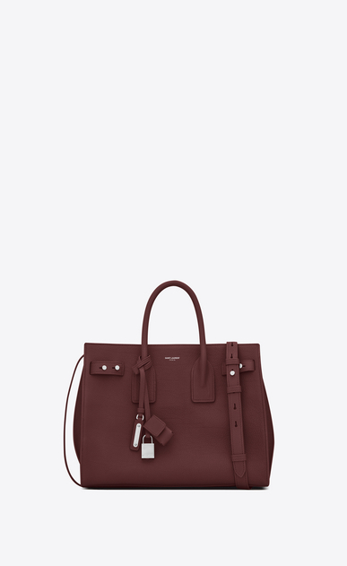 SAINT LAURENT Sac De Jour Supple Woman Small SAC DE JOUR SOUPLE Bag in Dark Red Grained Leather a_V4