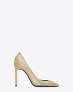 SAINT LAURENT Anja D ANJA 105 Pump in Pale Gold Cracked Metallic Leather f