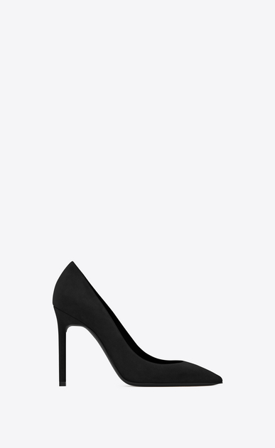 SAINT LAURENT Anja Woman ANJA 105 Pump in Black Suede a_V4