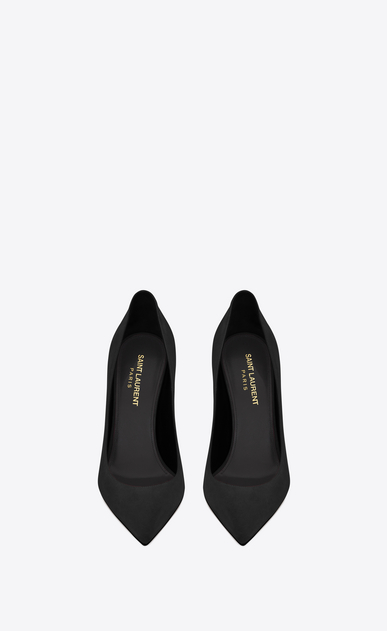 SAINT LAURENT Anja D ANJA 105 Pump in Black Suede b_V4