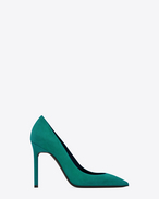 SAINT LAURENT Anja D ANJA 105 Pump in Green Suede f