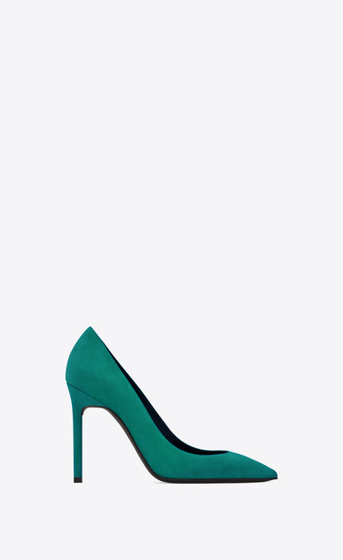 SAINT LAURENT Anja D ANJA 105 Pump in Green Suede a_V4