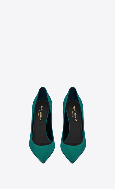SAINT LAURENT Anja D ANJA 105 Pump in Green Suede b_V4