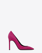 SAINT LAURENT Anja D ANJA 105 Pump in Fuchsia Suede f