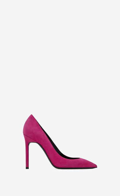 SAINT LAURENT Anja D ANJA 105 Pump in Fuchsia Suede a_V4