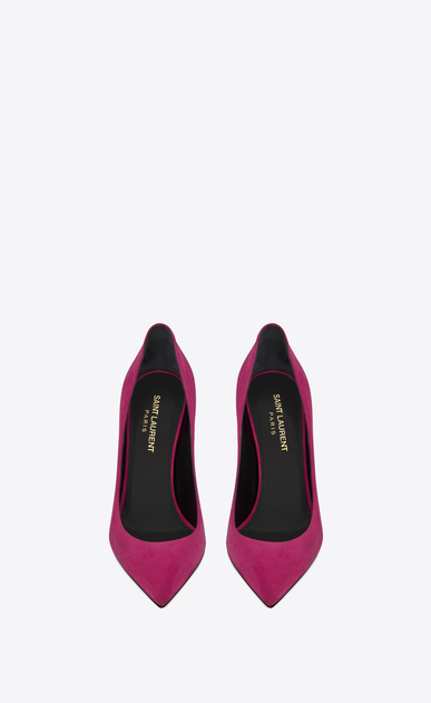SAINT LAURENT Anja D ANJA 105 Pump in Fuchsia Suede b_V4