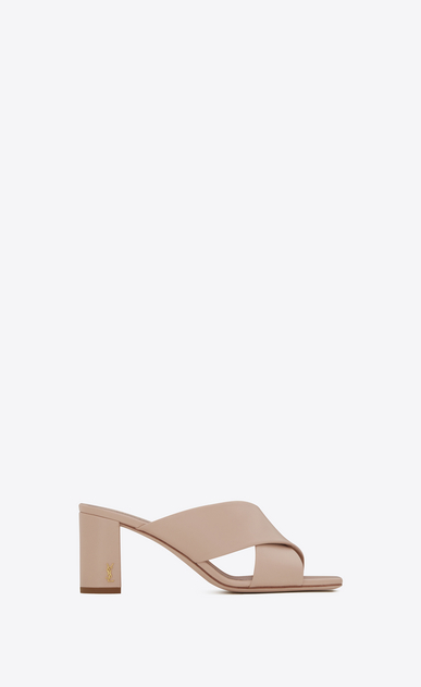 SAINT LAURENT Loulou D LOULOU 70 Crossed Sandal in Light Rose Leather a_V4