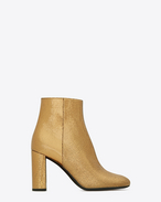 SAINT LAURENT Loulou D LOULOU 95 Zipped Ankle Boot in Bronze Metallic Leather f