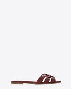 SAINT LAURENT Nu pieds D Sandali NU PIEDS 05 Strappy burgundy in vernice f