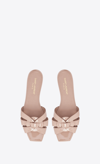 SAINT LAURENT Nu pieds D NU PIEDS 05 Strappy Sandal in Light Pink Patent Leather b_V4