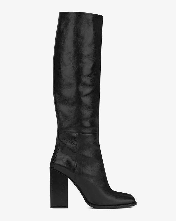 laurent jodie 105 knee high boot in black leather