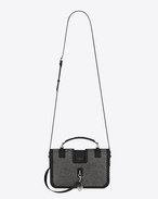 SAINT LAURENT Charlotte D Medium CHARLOTTE Studded Messenger Bag in Black Leather f