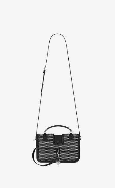 SAINT LAURENT Charlotte D Medium CHARLOTTE Studded Messenger Bag in Black Leather a_V4