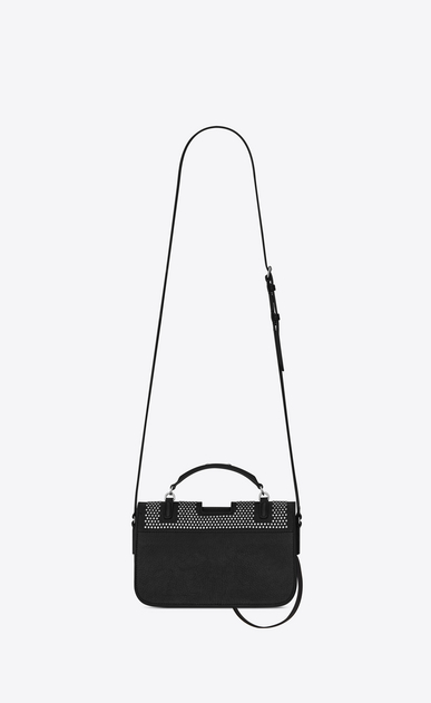 SAINT LAURENT Charlotte D Medium CHARLOTTE Studded Messenger Bag in Black Leather b_V4