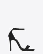 SAINT LAURENT Amber D AMBER 105 Ankle Strap Sandal in Black Velvet f