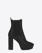 SAINT LAURENT Heel Booties D VIKA 95 Chelsea Ankle Boot in Black Leather f