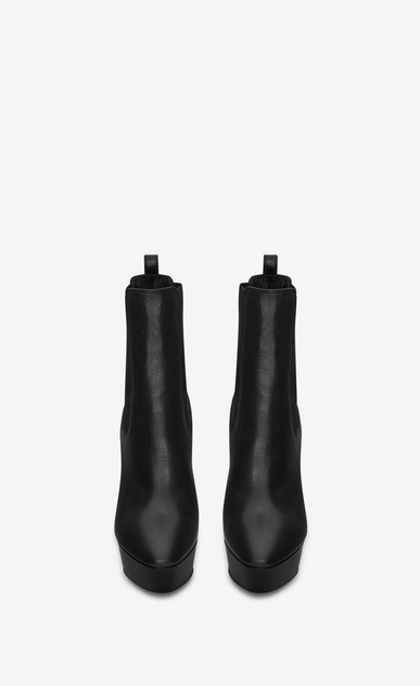 SAINT LAURENT Heel Booties D VIKA 95 Chelsea Ankle Boot in Black Leather b_V4
