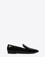 SAINT LAURENT Classic Masculine Shapes D SMOKING 05 MONOGRAM Slipper in Black Patent Leather f