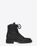 SAINT LAURENT Flat Booties D WILLIAM 25 Front Zip Boot in Black Leather f