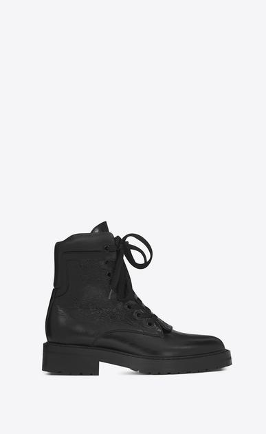 SAINT LAURENT Flat Booties D WILLIAM 25 Front Zip Boot in Black Leather v4