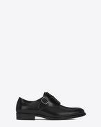 SAINT LAURENT Classic Masculine Shapes D DARE 25 Monkstrap Shoe in Black Leather f