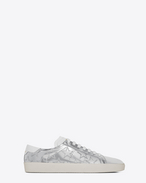 SAINT LAURENT Trainers D Signature COURT CLASSIC SL/06 CALIFORNIA Sneaker in Silver Metallic Leather f