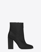SAINT LAURENT Heel Booties D JODIE 105 Western Ankle Boot in Black Leather f