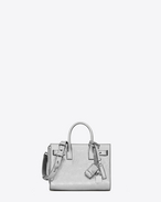 SAINT LAURENT Sac De Jour Supple D Nano SAC DE JOUR SOUPLE Bag in Silver Metallic Leather f