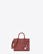 SAINT LAURENT Sac De Jour Supple D Nano SAC DE JOUR SOUPLE Bag color rosa scuro in pelle martellata f