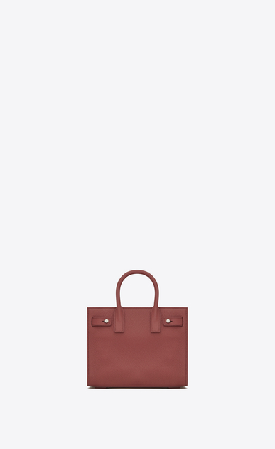 SAINT LAURENT Sac De Jour Supple D Nano SAC DE JOUR SOUPLE Bag in Dark Rose Grained Leather b_V4