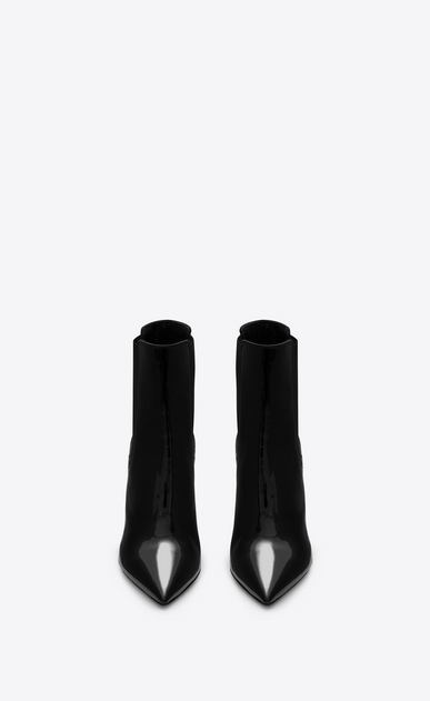 SAINT LAURENT YSL heels Woman OPYUM 85 Ankle Boot Black Patent Leather and Chrome b_V4