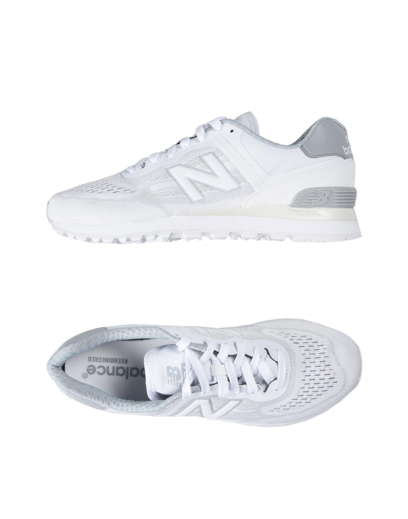 《セール開催中》NEW BALANCE メンズ スニーカー&テニスシューズ(ローカット) ホワイト 12 紡績繊維 / ゴム 574 REENGINEERED