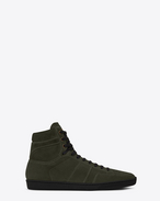 SAINT LAURENT SL/10H U Signature COURT CLASSIC SL/10H in Army Green Suede f