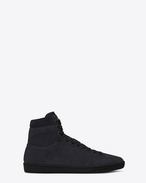 SAINT LAURENT SL/10H U Signature COURT CLASSIC SL/10H in Navy Blue Suede f