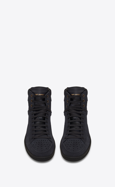 SAINT LAURENT SL/10H Man signature court sl/10h in navy blue suede b_V4