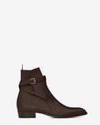 SAINT LAURENT Boots U WYATT 30 JODHPUR Boot in Brown Leather f