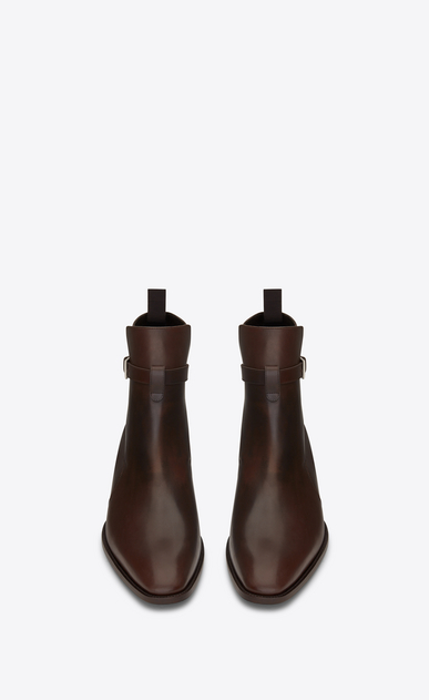 SAINT LAURENT Boots Man WYATT 30 JODHPUR Boot in Brown Leather b_V4