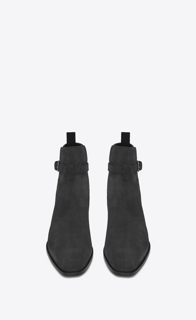 SAINT LAURENT Boots Man WYATT 30 JODHPUR Boot in Graphite Suede b_V4