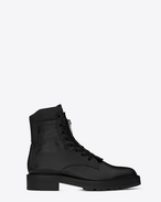 SAINT LAURENT Boots U WILLIAM 25 Front Zip Boot in Black Leather f