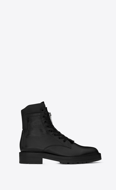 SAINT LAURENT Boots U WILLIAM 25 Front Zip Boot in Black Leather a_V4