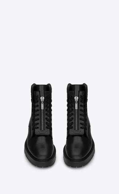SAINT LAURENT Boots U WILLIAM 25 Front Zip Boot in Black Leather b_V4