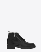 SAINT LAURENT Boots U WILLIAM 25 Side Zip Boot in Black Leather f