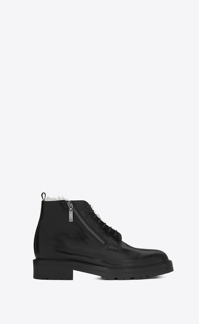 SAINT LAURENT Boots U WILLIAM 25 Side Zip Boot in Black Leather a_V4